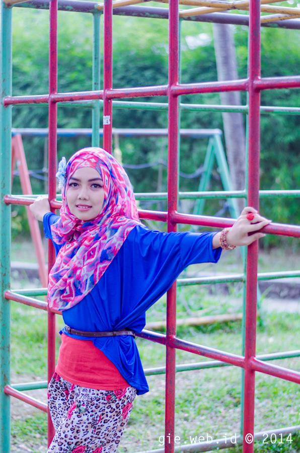 Hunting Foto Hijab di Taman Kuliner Yogyakarta