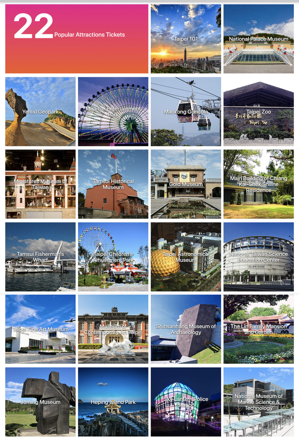 Atraksi Taipei Fun Pass