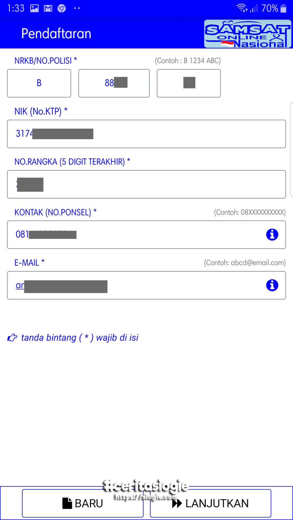 Perpanjang STNK Online - siogie.com