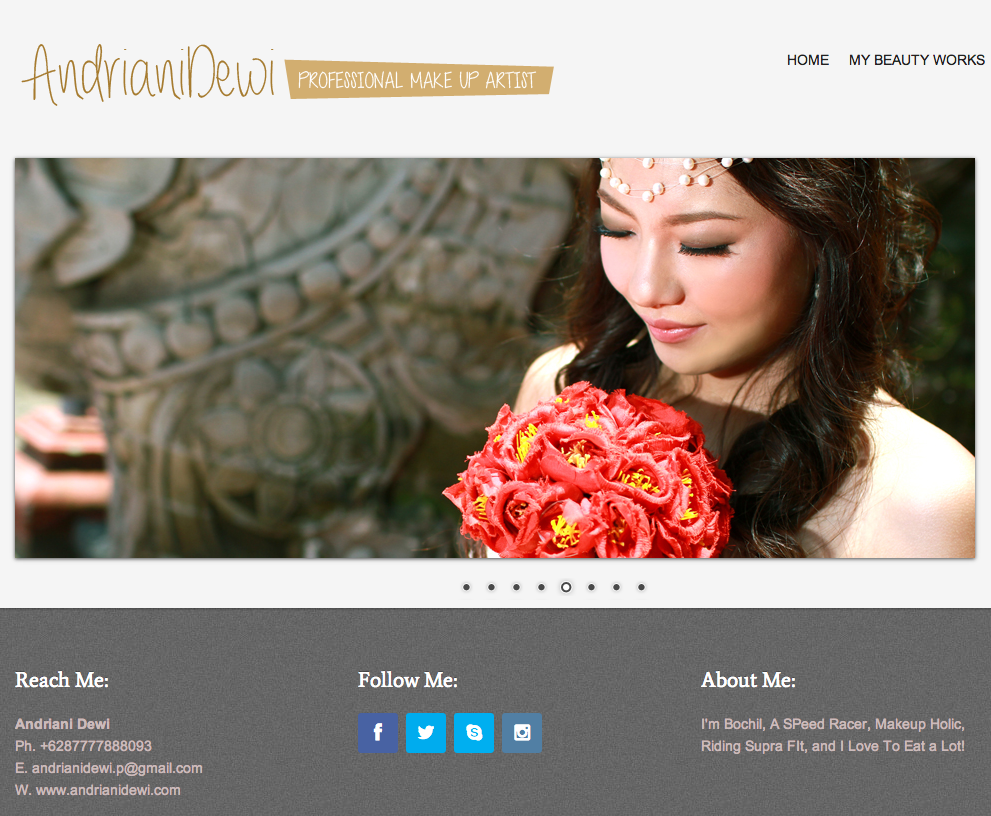 Andriani Dewi Make Up Artist Website